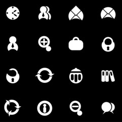 black office icons set