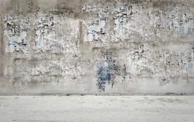 Dreckige Wand