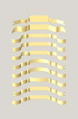 gold ribbons winding, exquisite form with a classic twist.