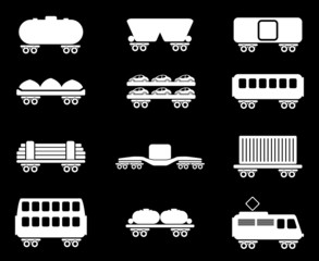 rail-freight traffic icons