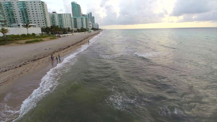 Aerial view Hallandale Beach Florida