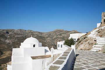 Landschaft auf der Kykladen Insel Serifos in Griechenland