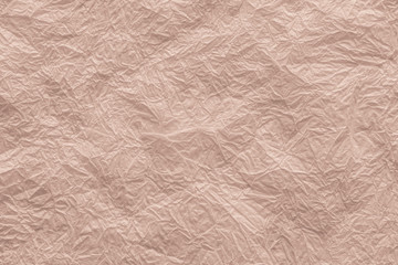 crumpled napkin for backgrounds terracotta color