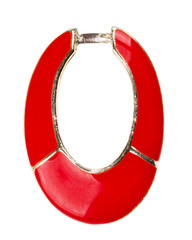 Red enamel circle