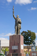 Soviet Memorial at cemetery in Grodno, Belarus