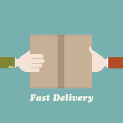 Courier fast delivery concept