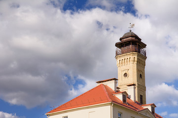 Old tower. Fire Station Building.