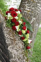 Brautstrauß im Baum