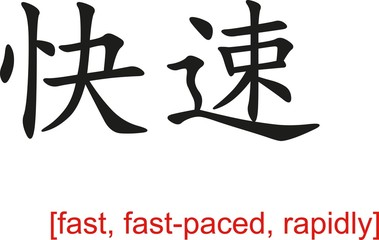 Chinese Sign for fast, fast-paced, rapidly