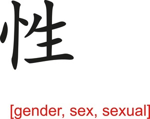 Chinese Sign for gender, sex, sexual