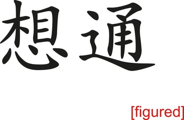 Chinese Sign for figured