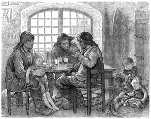 Sailors at Home - Marins Bretons - 19th century