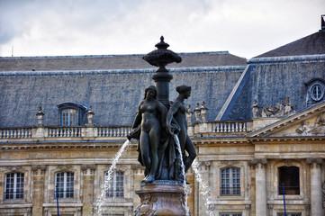 Francia, Burdeos, Fuente de las Tres Gracias