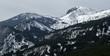 Paisaje de montañas cubiertas de nieve