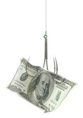 Dollar Banknote Baited Hook