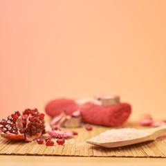 Pomegranate and aromatic salt