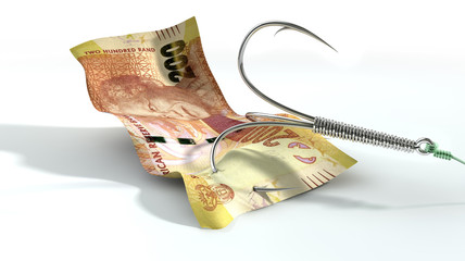 Rand Banknote Baited Hook