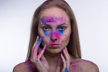 Girl with Splatter Makeup