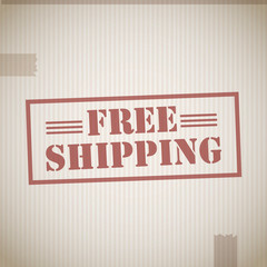 Free shipping cardboard box texture