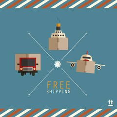 Free shipping carriers made of cardboard boxes