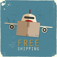 Cargo airplane made of cardboard box