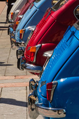 Concentration of old classic cars