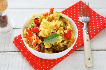 Fresh risotto with vegetables