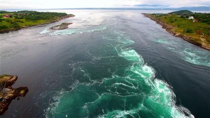 Tidal wave at Saltstraumen in Norway