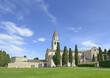 Leinwanddruck Bild - Baptistery, Basilica and bell tower of Aquileia, Italy. UNESCO