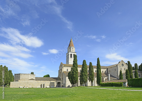 Baptistery, Basilica and bell tower of Aquileia, Italy. UNESCO - 67380913