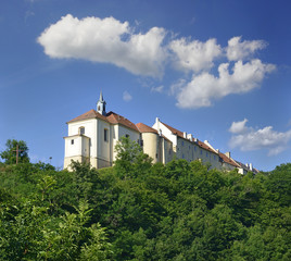 Baroque castle in Nizbor, central Bohemia, Czech republic