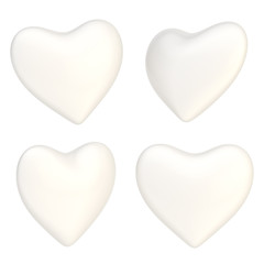 Glossy heart shape isolated
