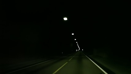 long dark tunnel in Norway