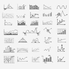 business finance statistics infographics doodle hand drawn