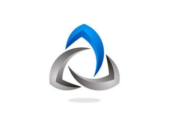 trinity circle abstract vector logo