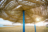 straw beach umbrella