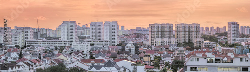 Aluminium Singapore Kembangan Residential Area in Singapore Panorama