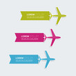 Multicolored paper stickers  with aircraft