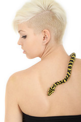 Schlange auf dem Rücken