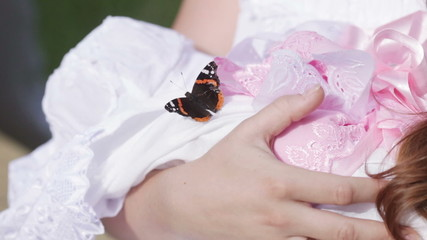 Butterfly on child