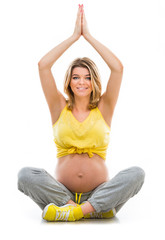 pregnant woman engaged in fitness