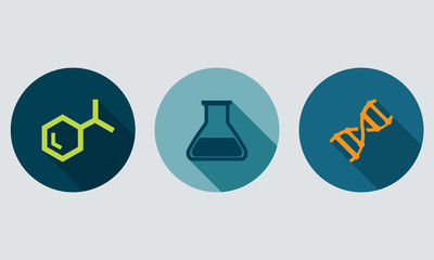 Laboratory elements -Set icons