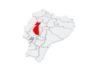 Map of Los Rios. Ecuador.