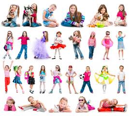Set photos of a happy little girl