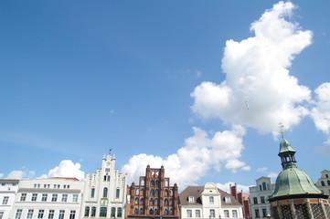 Fassaden am Markt in Wismar 2