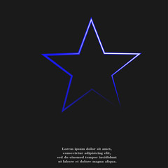 star icon Flat with abstract background