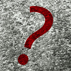 question mark icon Flat with abstract background