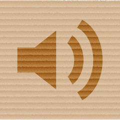 speaker icon Flat with abstract background