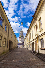 old streets of Vyborg, Russia