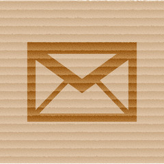 Envelope Mail icon Flat with abstract background